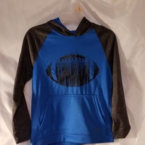 New Boys Long Sleeved Hoodie Shirt 7 Football Blue